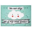 Groot krasbiljet wolk funny cloud : win voor altijd - wil je mijn meter worden