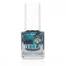 Petrolblauwe nagellak met glitterschijn - Blue the candles