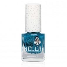 Petrolblauwe nagellak met glitter - Under the sea