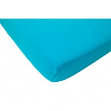 Turquoise hoeslaken ledikant