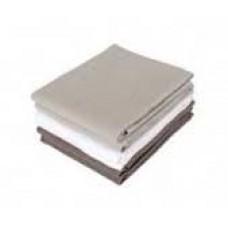 Set van 6 gekleurde tetradoeken ( donker grijs- wit en licht grijs)
