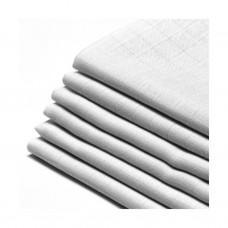 Set van 6 witte tetradoeken