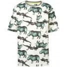 Ecru t-shirt met neushoorn en salamanders - off white ladue
