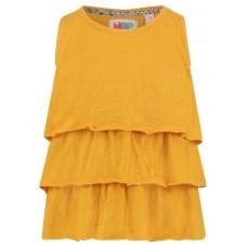 Okergele shirt met ruches - golden rod Barton