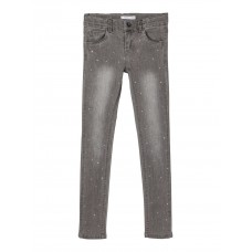 Grijze jeansbroek met strass - Nkfpolly dnmtav medium grey denim