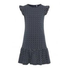 Donkerblauw kleedje met kriekjes - nkfvida dress dark sapphire