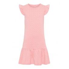 Fuchsia kleedje met kriekjes - nkfvida dress geranium pink
