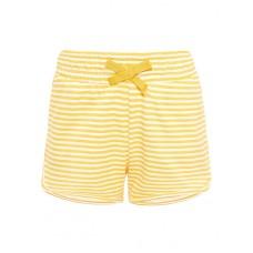 Geel- wit gestreept shortje - NMFVigga stripe