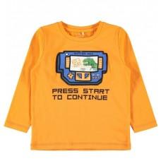 Oranje shirt lange mouwen met spelconsole - Bamax sun orange