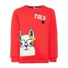 Rode sweater met lama -Labina sweat true red
