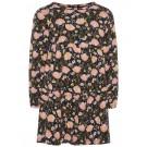 Donkerblauw kleedje met bloemenprint - Lamia dark sapphire - maat 80 (Geboortelijst Anouk B.)