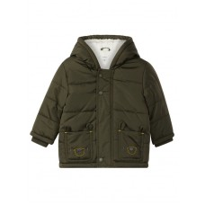 Kakikleurig jasje met beertjes - Maki jacket