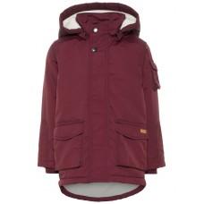 Bordeaux jas met teddy - Madocparka jacket port royal