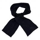 Donkerblauwe sjaal met witte accenten - Nitmalle knit scarf bleu melange
