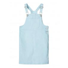Lichtblauw jeans salopetkleedje - Nkfbatone twi bibskirt dream blue