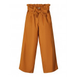 Cognackleurige brede broek - nkfhilta 7/8 wide pant  bone brown