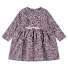 Roze jurkje met panterprint - Nbftiana ls dress pink nectar