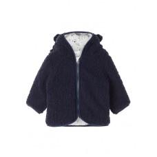 Donkerblauw teddy jasje - Nbmmauv jacket dress blues