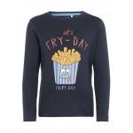 Donkerblauwe t-shirt it's fry- day - nmmnanto dark