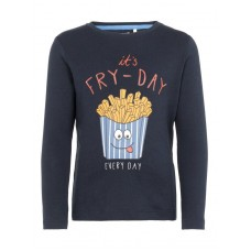 Donkerblauwe t-shirt it's fry- day - nmmnanto dark