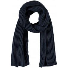 Donkerblauwe gebreide sjaal - Nkmmasar knit scarf dark sapphire