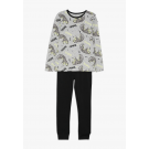Tweedelige pyjama glow in the dark tijger -Nkmnightset grey mel aop glow noos