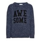 Blauwe gebreide trui Awesome - Niteskona knit isigia blue - maat 104 (Geboortelijst Finn D.B.)