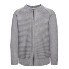 Grijze geribbelde trui - Nitfenko knit LS grey melange