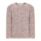 Oud roze gebeide gilet met glitters : nithip evening sand