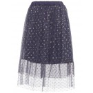 Paarsblauwe tule rok met stipjes - Kulli tule skirt odyssey greyblue