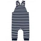 Blauw met wit gestreept overalletje - nbmdali overall grey melange - maat 62 (Geboortelijst Jay D.W.)