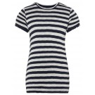 Zwart- ecru gestreepte t-shirt - nfhabello top
