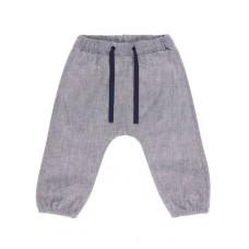 Grijs melé linnen baggybroekje - mbmdavan pants