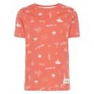 Koraalkleurige t-shirt de duikerswereld - nmmfarol  - maat 98 (Wenslijst Vince V. L.)