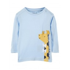 Lichtblauw t-shirtje met giraf - nbmermatti cashmire blue