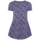 Paars kleedje met bladjes en stipjes - nmfvita vintage indigo