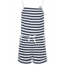 Blauw- wit gestreepte jumpshort - bright white stripes nkfvigga