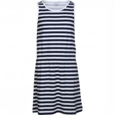 Blauw- wit gestreept kleed - bright white stripes nkfvigga