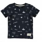 Donkerblauwe t-shirt de duikerswereld - nmmfarol  - maat 92 (Geboortelijst Mon D.W.)
