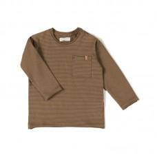 Toffeekleurig gestreepte t-shirt - Longsleeve toffee stripe