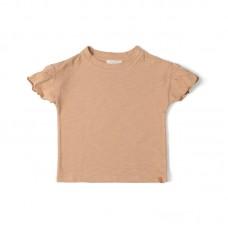 Lichtbruine t-shirt met vlindermouwen - Fly tshirt nude