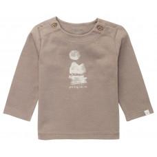 Bruingrijs t-shirt met opschrift - Ribera cinder