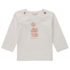 Beige t-shirt met opschrift - Ribera white sand