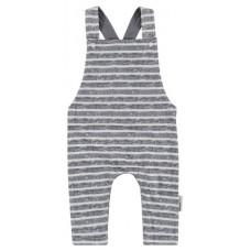 Grijs met wit gestreept overalletje - grey dangaree kaysville