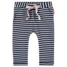 Blauw - wit gestreept broekje- sweat tapered lorain - maat 62 (Geboortelijst Suus v.H.)