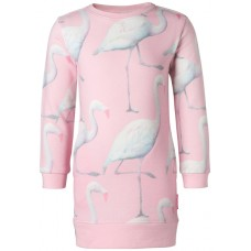 Lichtroos sweaterkleedje met flamingo's - plum dress kingman
