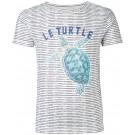 Gestreepte t-shirt met schildad - Mauro turtle deep blue