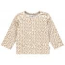 Ecru shirtje met caramelkleurige accenten - apple cinnamon pasadena - maat 62 (Geboortelijst Franne S.)