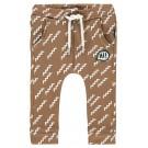 Caramelkleurig broekje met zigzag - Washed wood porter