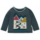 Blauwe t-shirt met bergprint - Tee regular broomfield orion blue